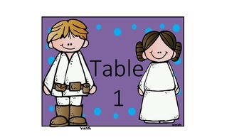 Back to School with Star Wars: Desk Tags, etc..
