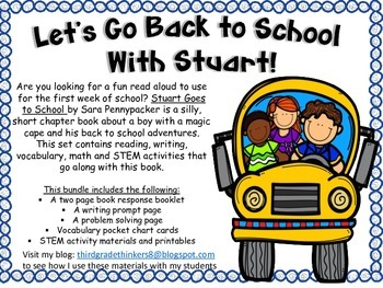 Back to School with Stuart:Book Activities for Stuart Goes to School