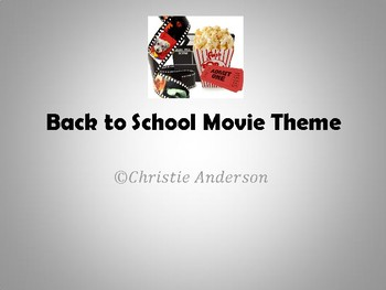 Back to School with a Movie Theme