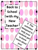 Back to School with my New Teacher Activities