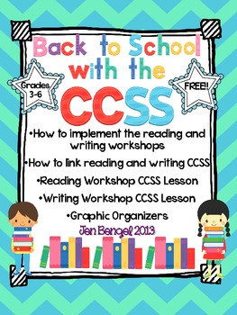 Back to School with the CCSS!! {A Reading & Writing Workshop Freebie}