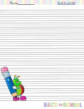 Back to School handwriting papers