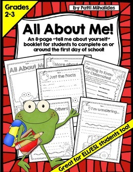 Back to School/All About Me/First Day of School Booklet/Worksheets