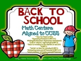 Back to School:Common Core Math Centers for 3rd Grade