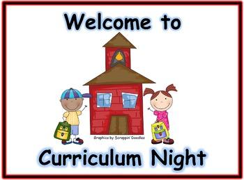Back to School/Curriculum Night PowerPoint Presentation