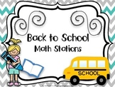 Back to School/End of Year Math Stations