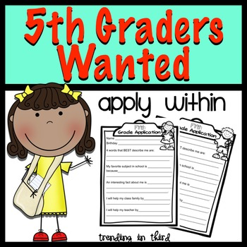 Back to School:Fifth Graders Wanted