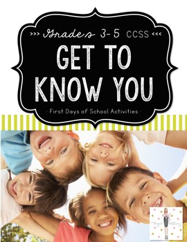 Back to School-Get to Know You Activities for Every Subject {Upper Elementary}