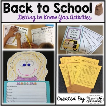 Back to School Getting to Know You Activities ~ Meet Me My