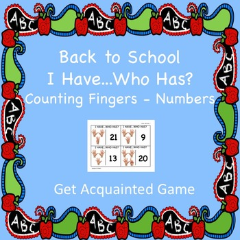 I Have...Who Has?/Counting Fingers-Number Cards