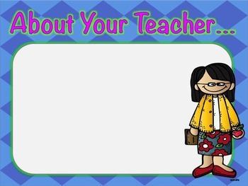 Back to School/Meet the Teacher Night Power Point
