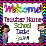 Back to School/Meet the teacher/Open House Editable Powerpoint