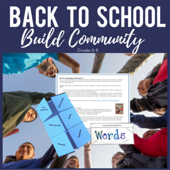 Back to School Activities: Interactive Notebook, Games & Community Building!