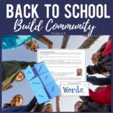 Back to School Activities for Middle School:  Hands-on & Interactive!