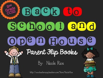Editable Back to School/Open House Parent Flip Books - 2nd Grade CCSS