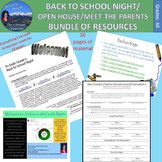 Back to School/Open House/Meet the Teacher Bundle of Resources