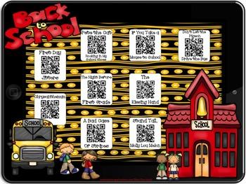 Back to School~QR Codes/Hyperlinks~Scan/CLICK for Listenin