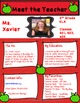 Back to Schools Form Editable (Great for Middle School Kids)