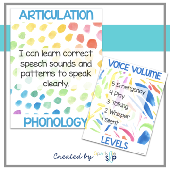 Back to Speech Therapy Organizational Materials