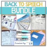 Back to Speech BUNDLE