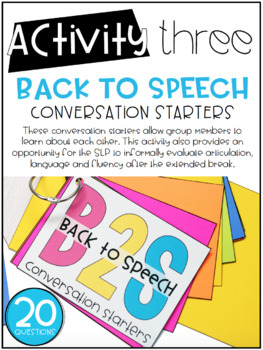 Back to Speech: Five Interactive Activities