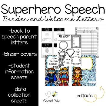 Back to Speech Letters and Speech Teacher Binder