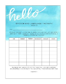 Speech Therapy Notes: Back-to-School