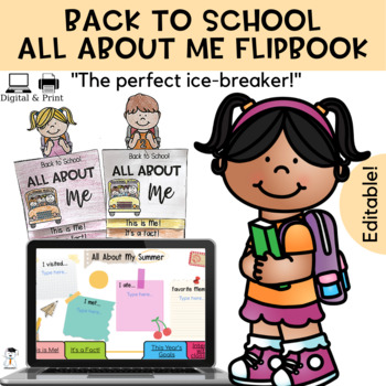 Back to school 2017 - All about me FLIPCHART - First day of school