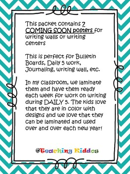Back to school - 7 coming soon posters for bulleting boards