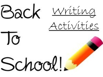 Back to school Activities: Writing Prompts