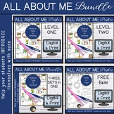 Back to school All About Me Posters Bundle