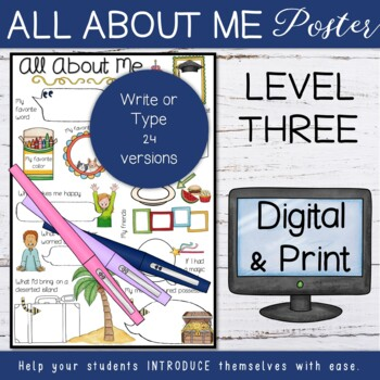 Back to school - All About Me Posters (Level 3)