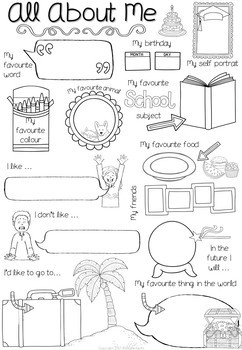 All About Me Posters - Freebie