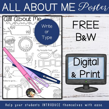 All About Me Posters Freebie