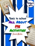 Back to school:  All About Me (Social Media Themed)