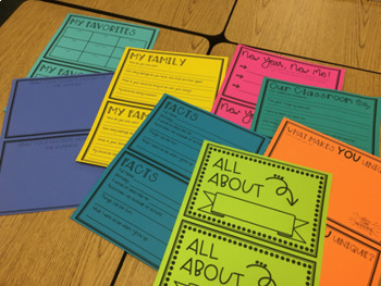 Back To School All About Me Booklet Activity
