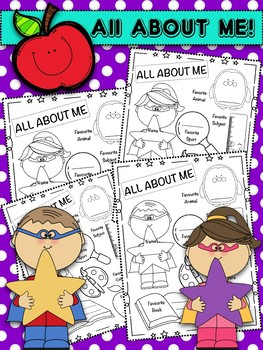 Back to school All About me Freebie