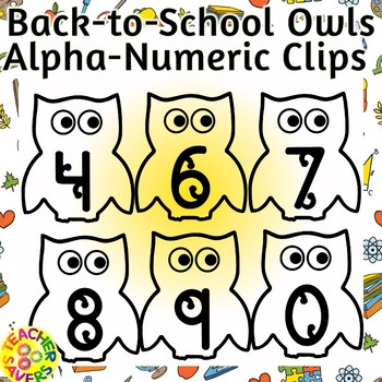 Back to school Alphabet and Number Clip Set Commercial and Personal Use