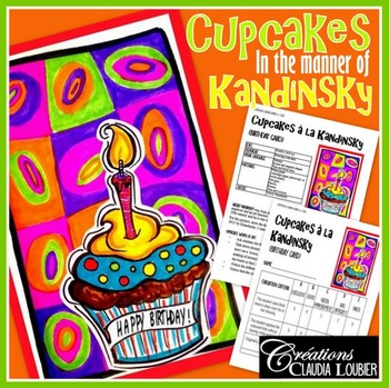 Back to School: Cupake, Art Project: Birthday Card à la Kandinsky