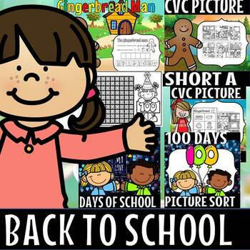 Back to school/ August/ kindergarten/Literacy and math