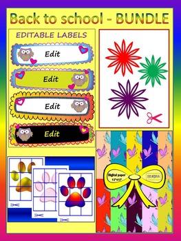 Classroom Decor - BUNDLE - Editable Labels - Puzzle - Clip