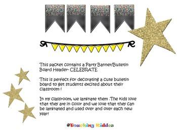 Back to school Banner- CELEBRATE Confetti theme