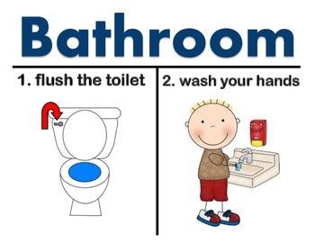 Back-to-school  Bathroom Poster