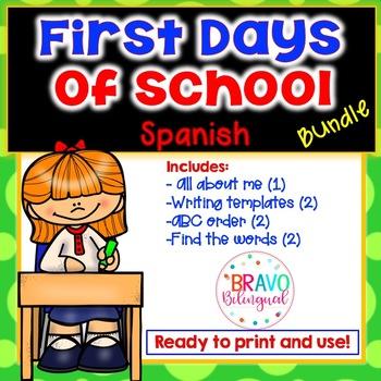 Back to school Bundle - Regreso a clases actividades