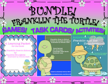 Bundle Franklin the Turtle games activities task cards