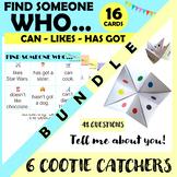 SPEAKING Activities BUNDLE (Find someone who / Cootie Catchers)