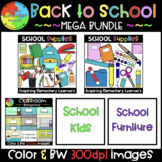 Back to school Clip Art BUNDLE [School Clipart ]