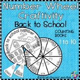 Back to school – Counting Books, Number Wheel Craftivity