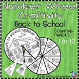 Back to school – Counting Pencils, Number Wheel Craftivity