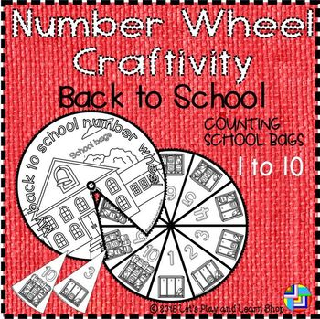 Back to school – Counting School Bags, Number Wheel Craftivity